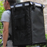 "PK-86V: Pizza take out bags, big utility delivery backpacks with top loading, 16"" L x 13"" W x 24"" H"