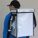 PK-33VW: Thermal food delivery bag, drinking takeaway backapck, Top Loading, 13