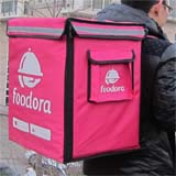 "PK-65D: Heated food delivery bag for Foodora, eating take out backpacks, 16"" L x 12"" W x 18"" H"