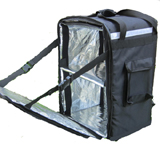 PK-86Z: Delivery bag for hot food with zipper loading, large duty pizza delivery backpack, 16