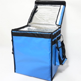 "PK-66VB: Food delivery insulated bags for top loading, 12 inch pizza takeaway, 16"" L x 12"" W x 18"" H"